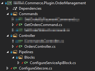 Example structure of a Sitecore Commerce Engine Plugin