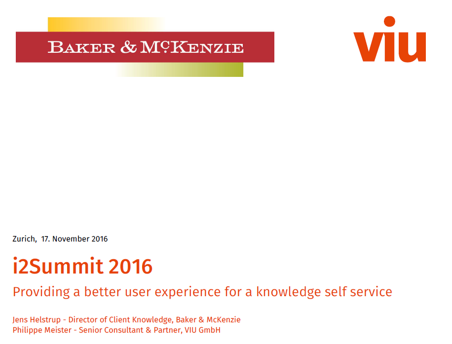 i2Summit Presentation a better user experience for a knowledge serf service